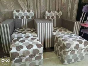 Brand New 2 Sofas with 2 small seater(Mudha)