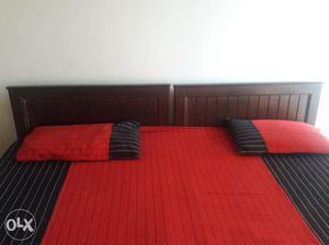 King size double bed - made of 2 single beds for