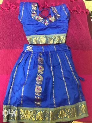 Hardly worn Semi silk lehenga and choli.. south