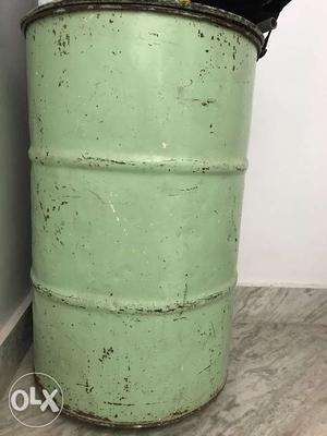 Large iron grain storage tank. Can be used to