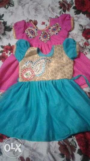 New kid frocks for one year baby good looking