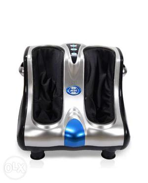 Stainless Steel And Blue Foot And Leg Massager