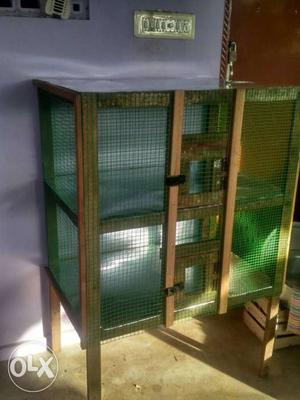Green And Brown Chicken Coop