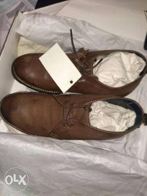 Arrow boots derby 6 numbr high gentle leather