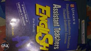 Assistant teacher English book for teaching exam