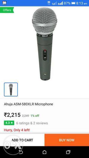 Black Ahuja ASM-580XLR Microphone