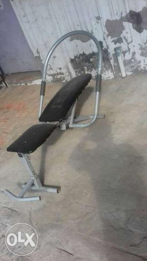 Black And Gray Gym Bench