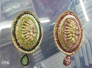 Gold plated sari pins