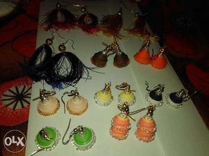 Handmade silk thread and paper jewellery with
