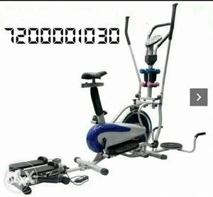 Orbitrek elite steel wheel with pulse and 7 in