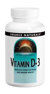 Source Naturals Vitamin D-IU, 100 Capsules (Pack of 3)