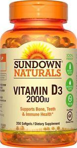 Sundown Naturals Vitamin D IU, 350 Softgels