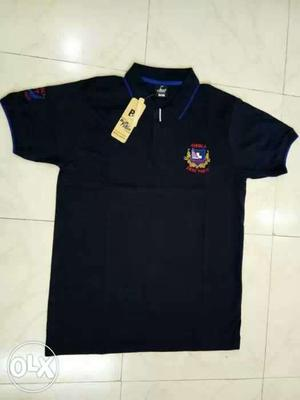 Black And Blue Polo Shirt