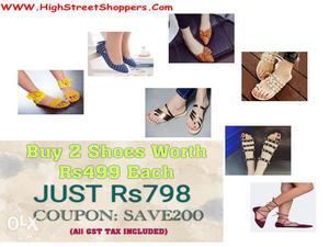 Women Shoes/Footwear-BUY 2 SHOES WORTH RS.499   Hi