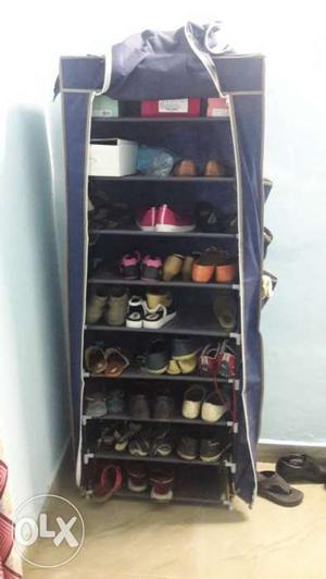 9 layer shoe rack with cover. 4 month old.