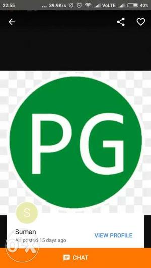 Pg is available for two girls Near police colony,Jamalpur.