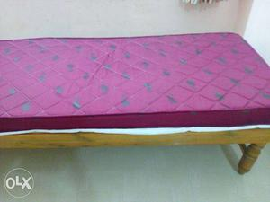 Single Cot With Mattress(bed) Suitable For Summer