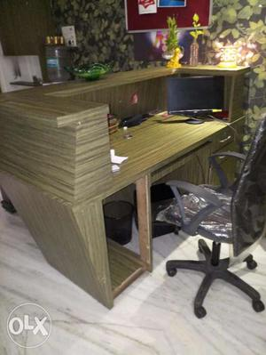 Wooden Reception office table in just 15K