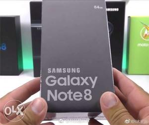 Samsung Galaxy note 8 black colour seal pack unit