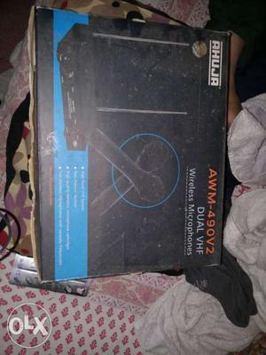 Black Ahuja AWM-490V2 Wireless Microphone Box