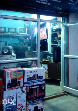Runing electronics shop with furniture