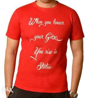 T Shirt With Islamic Slogan 150 Only