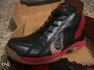 Black, And Red Athletic Shoe