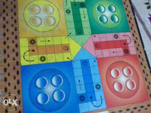 Gaint wooden board ludo game
