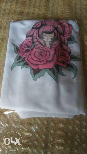 White collar t shirt,u can also printing
