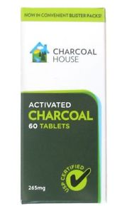 Activated Charcoal Tablets USP In Blister Packs - 60 Tabs -
