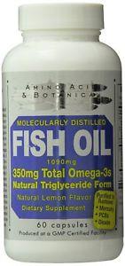Amino Acid & Botanical Fish Oil Capsules, 60 Count