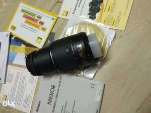 Black Nikon Nikkor DX VR mm Lens