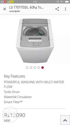 Brand new sealed LG washing machine. company.  Contact