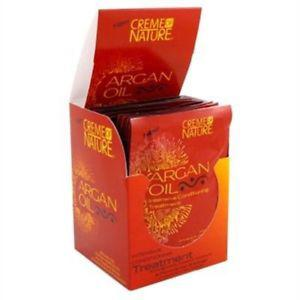 Creme Of Nature Packettes Argan Oil Treatment1.75 Ounce(12