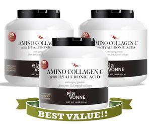 Elavonne Amino Collagen C with Hyaluronic Acid Fish Collagen