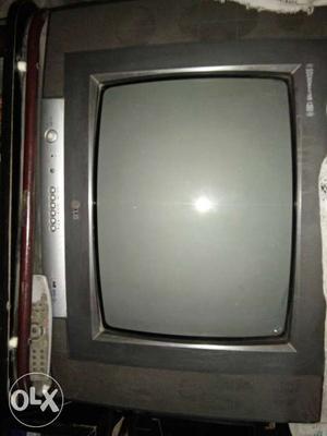 Gray LG Widescreen CRT TV