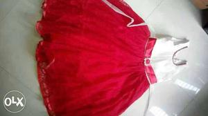 Less used girls dress for age 4 to 7 for rs200