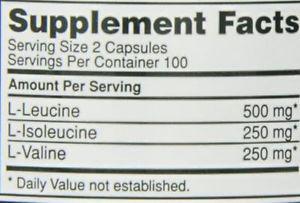 Optimum Nutrition BCAA mg, 200 Capsules (Pack of 2)