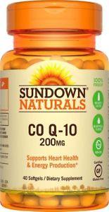 Sundown Naturals Co Q- mg, 40 Softgels