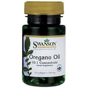 Swanson Oregano Oil 10:1 Extract 150 mg 120 Sgels