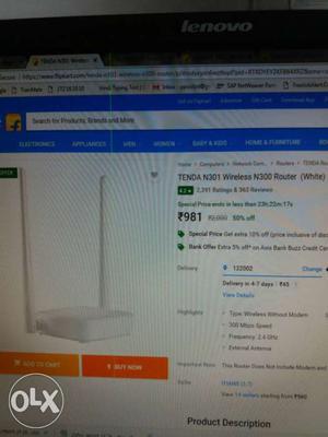 Tenda N301 Wireless N300 Router Screenshot