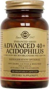 Solgar Advanced 40 Plus Acidophilus Vegetable Capsules, 60