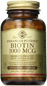 Solgar Biotin Vegetable Capsules,  mcg, 250 ct