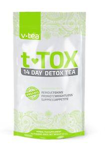 14 Day Detox Tea Teatox by V Tea - Cleanse, Boost Energy,