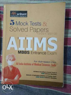 5 Mock Test & Solved Papers Aiims MBBS Entrance Exam Book