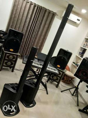Black Tower Speakers