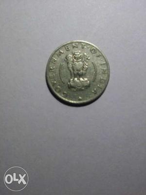 Round Silver Government Of India Commemorative Coin