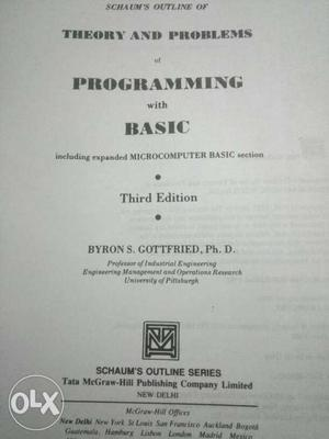 Theory And Problems Of Programming With Basic Book
