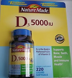 Nature Made Vitamin D-IU 220 ct Softgels