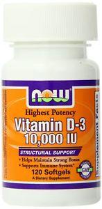 Now Foods Vitamin D- IU 120 Soft Gels